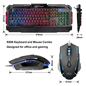 gaming keyboard mouse combo