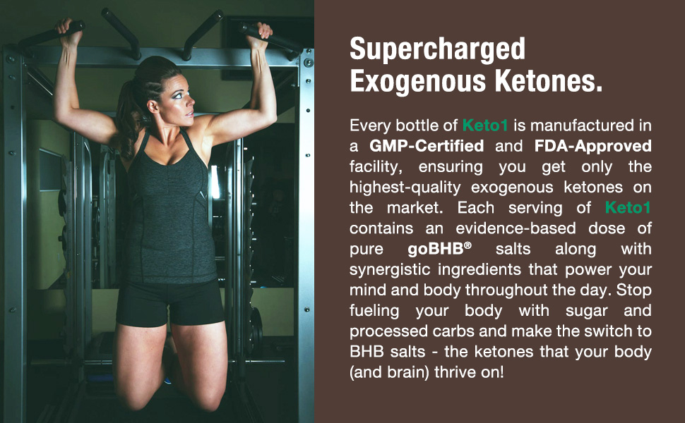 Ketone supplement is manufactured in a GMP certified and FDA approved facility