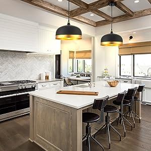 Ohr Lighting Lisse Saturn Gold Black Pendant Light Lamp Shade Modern Style Interior