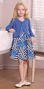 Amazon.com: Bonny Billy Girls Long Sleeve Solid Pleated A