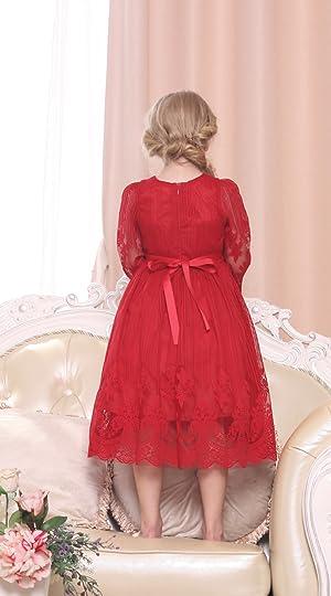 Amazon.com: Bonny Billy Girl's Classy Embroidery Lace Maxi