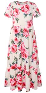girls maxi long dress