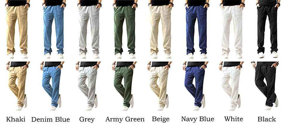 Sir7 Men S Linen Casual Lightweight Drawstrintg Elastic