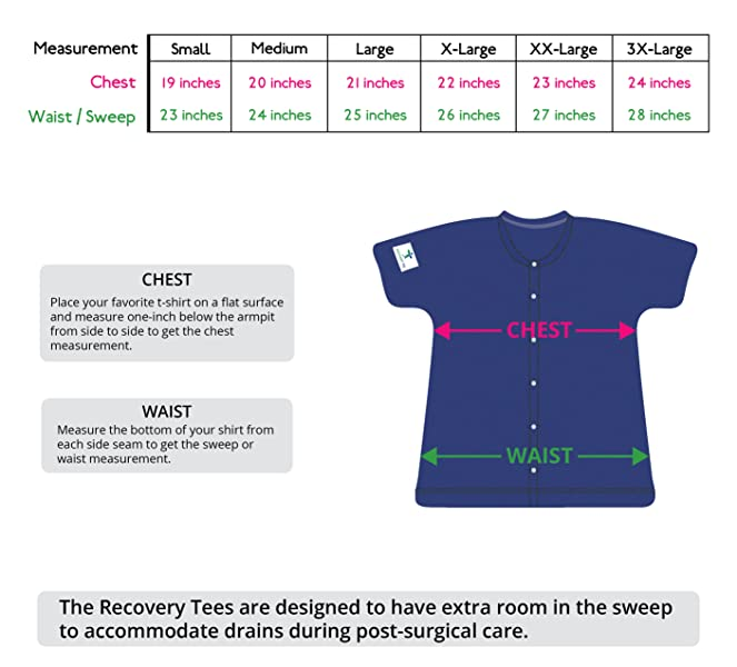 ce042316a8a2 Breast Cancer Recovery Tee with Internal Drain Management Pockets