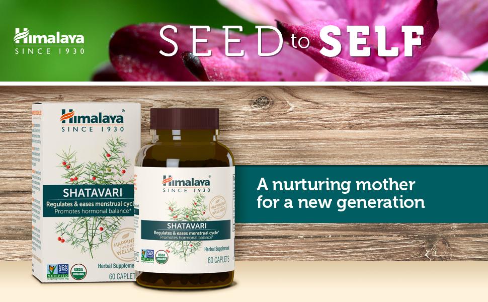 Himalaya Organic Shatavari for Menstrual Regulation and Hormonal Balance,  1,300 mg, 1