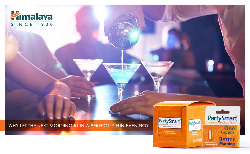 e652ff4a Amazon.com: Himalaya PartySmart for Hangover Prevention, Alcohol ...