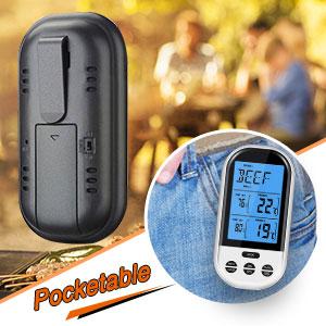 Amazon.com: Termómetro digital inalámbrico para carne ...