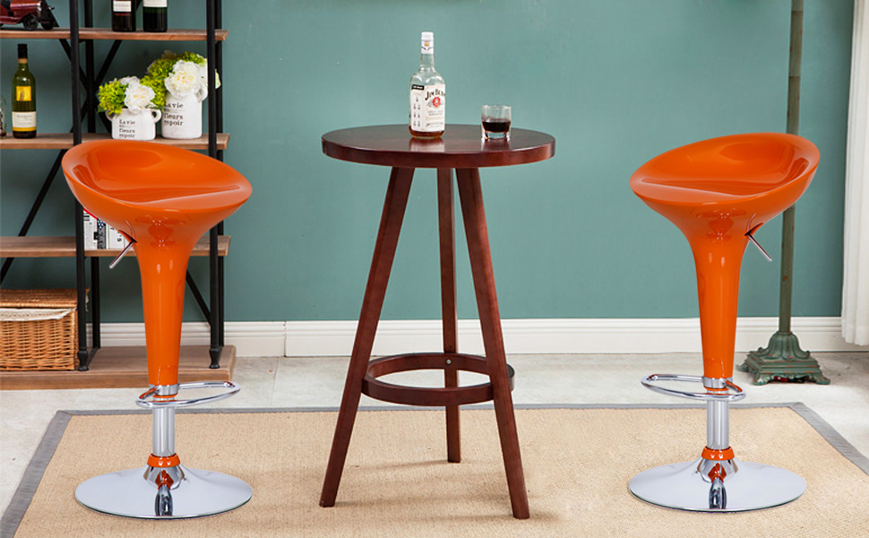 Sleek Design Chrome Base Bar Stool Newlibrarygood Com