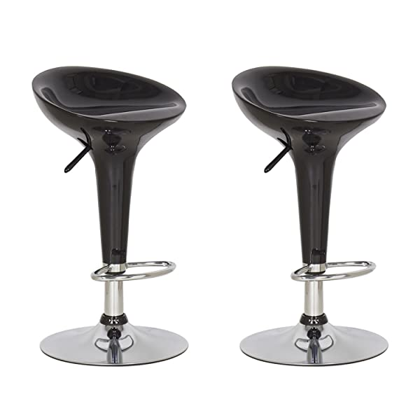 Joveco Stylish Colorful Swivel Adjustable Bar Stools (Black)   Set Of 2 Are  Designed With Comfort And Style In Mind. Sleek And Smooth Silhouette, ...
