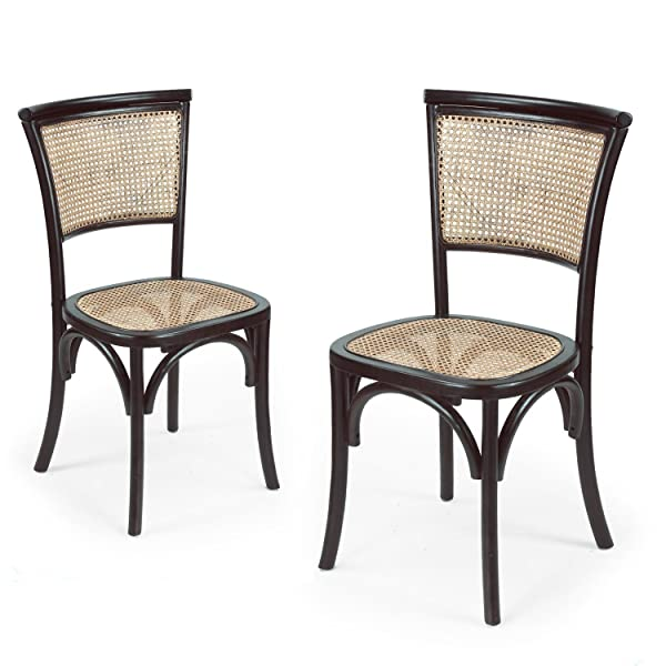 Kitchen Table And Chairs Amazon: Amazon.com: Joveco Elm Wood Antique Vintage Rattan Solid