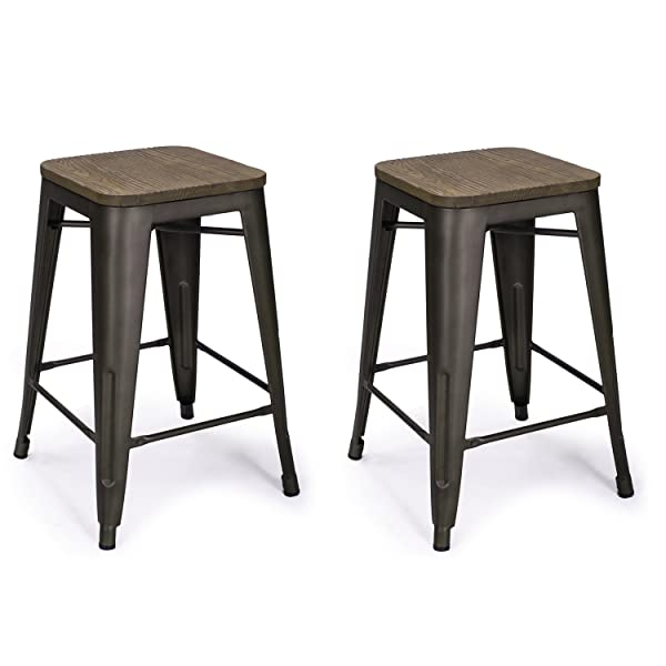 Wood And Metal Stools Bar Stools Wood Swivel Bar Stool