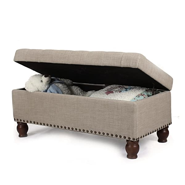 Prime Amazon Com Joveco Fabric Rectangular Tufted Nailhead Trim Alphanode Cool Chair Designs And Ideas Alphanodeonline