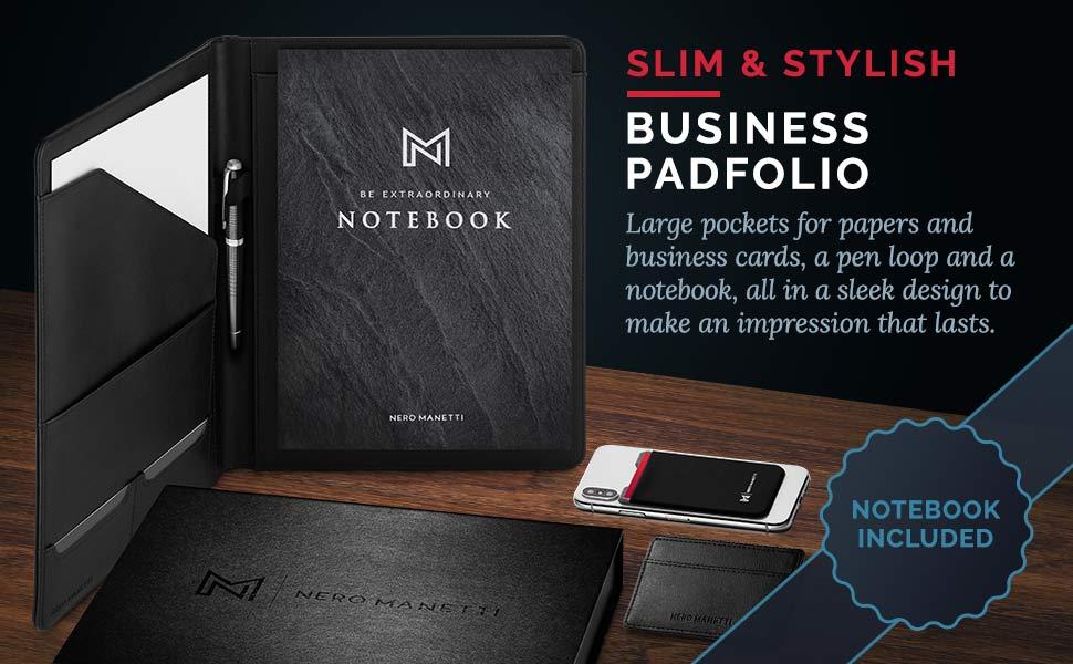leather portfolio padfolio business executive women men