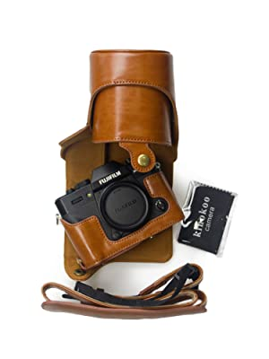 Color : Coffee SHIFENX Full Body Camera PU Leather Case Bag with Strap for FUJIFILM XT10 // XT20 Durable 16-50mm // 18-55mm Lens