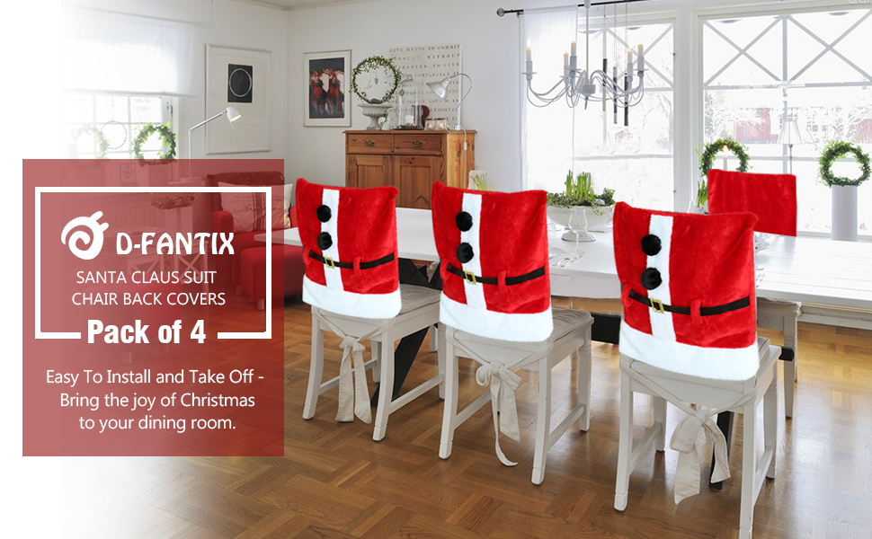 Amazon Com D Fantix Santa Claus Suit Christmas Chair