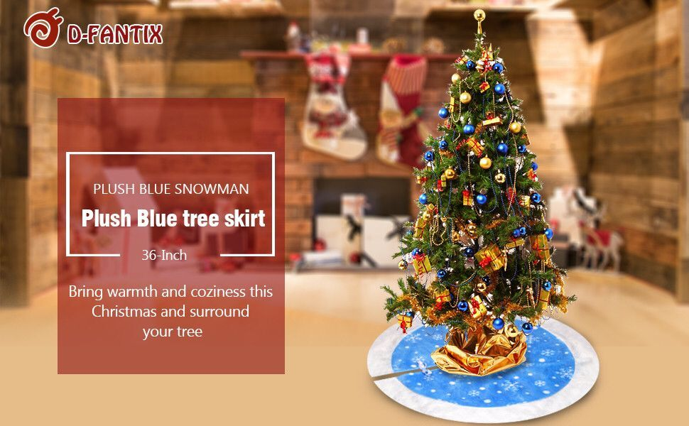 our blue christmas tree skirt is of top quality and gives a simple elegant and traditional look to any - Simple But Elegant Christmas Tree Decorations