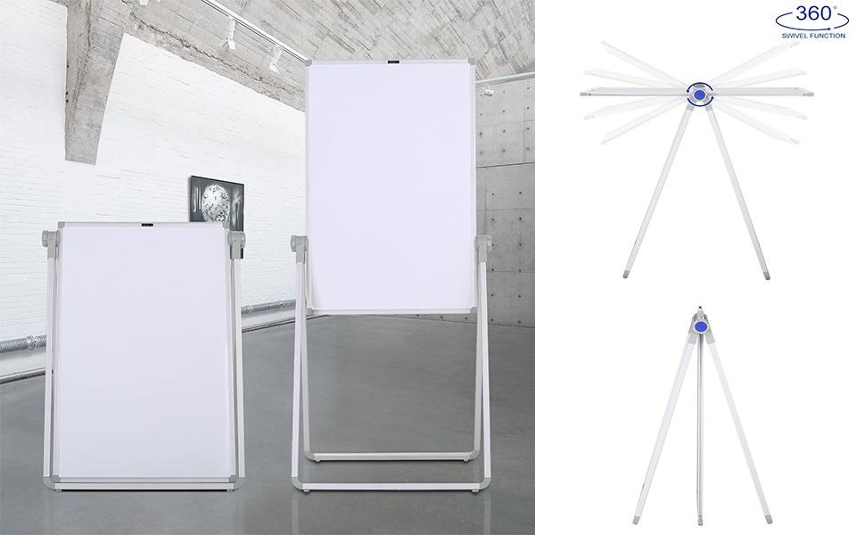 Amazon.com: ZHIDIAN pizarra blanca magnética de doble cara ...