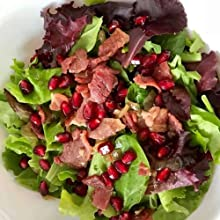 Salad with Rays County Ham Biscuit Cuts