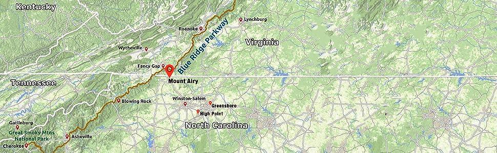 Mount Airy North Carolina location map