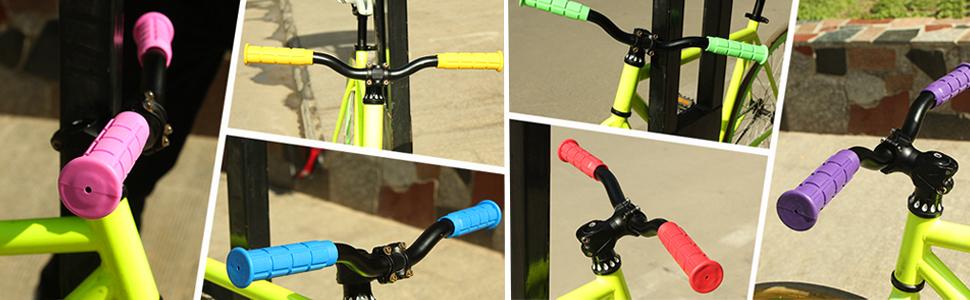Halloween Glow in the Dark Velo BMX Bike Cycle Scooter Bar Handlebar Grips