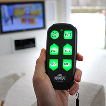 universal big button tv remote television senior elderly assisted living easymote continu.us care