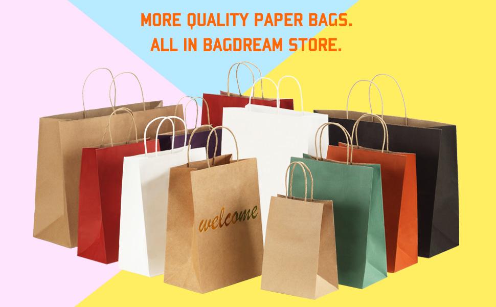 paper bags with handles bulk