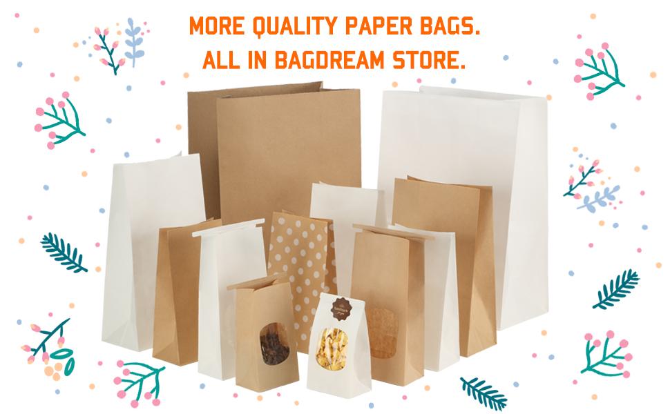 1000 BAKER PLEATS BAG PLEATS Bags Paper Bags Christmas 14+6x24 cm No. 15