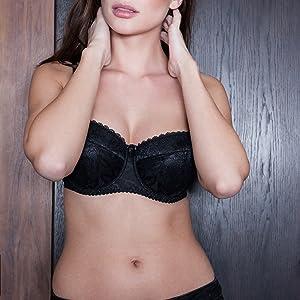 1e3cc4be030fc Balconette Push Up Demi Underwire Sexy Lace T-Shirt Shelf Plus Size Bra