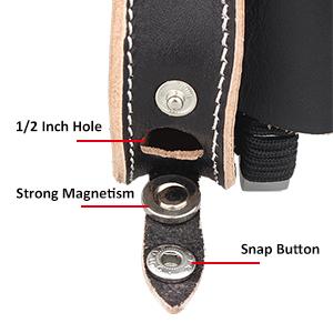 CUHAWUDBA 2 in 1 Magnete Ammo Pouch Holster Sfera dAcciaio per Slingshot allaperto Esercizio Marrone