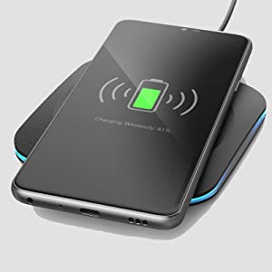 Encased Galaxy Note 10 Plus/ S9 / S8 / S10 Plus Charger Quick Charge 3.0 Wireless Pad - Fast Charging Qi Enabled (Case Compatible Non-Slip Design) ...