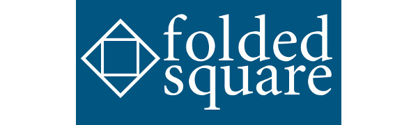 folded square origami logo