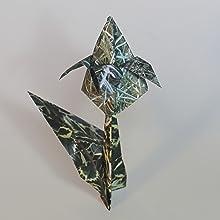 flower pattern origami paper
