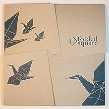 flower pattern origami paper box