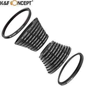 18Pcs Camera Filter Adapter Set Lens 37-82mm Step Up Down Accessories for Canon