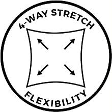 4-way stretch, flexibility