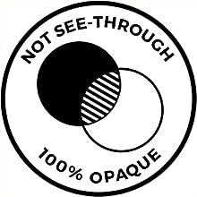 Not see-through, 100% opaque