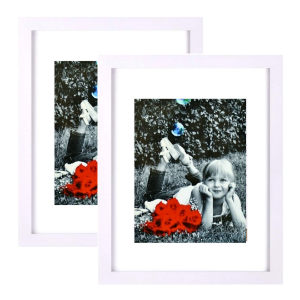 "white 11x14"" picture frame with mat for 8x10"" photo 11x14 white frames 2 pack 2-pack document award"