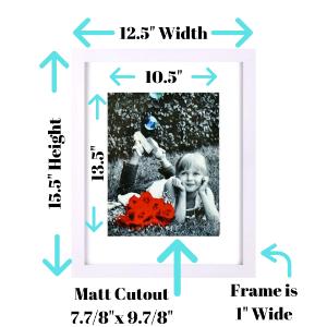 8x10 white picture frame 11x14 inch horizontal vertical tasse verre golden state american flat art