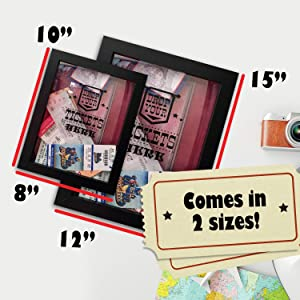 TicketShadowBox - 8x10 Memento Frame - Large Slot on Top of Frame - Memory  Box Storage for Any Size Tickets  Best Top Loading Shadowbox for The