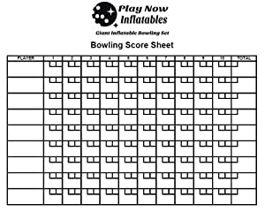 Bowling Score Sheet | Amazon Com Giant Inflatable Bowling Game Set Indoor Outdoor