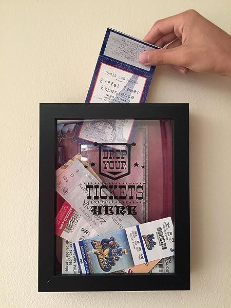 Amazon.com - TicketShadowBox - Memento Frame - Large Slot on Top of ...
