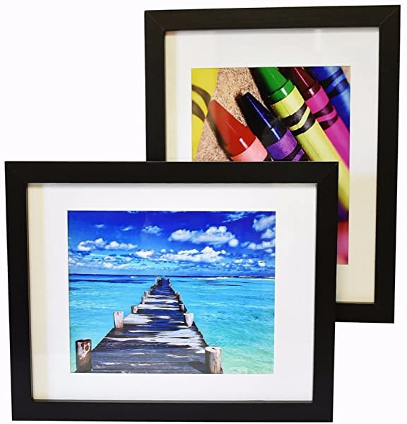 Amazon 11x14 Inch Picture Frame Black 2 Pack Glass Front