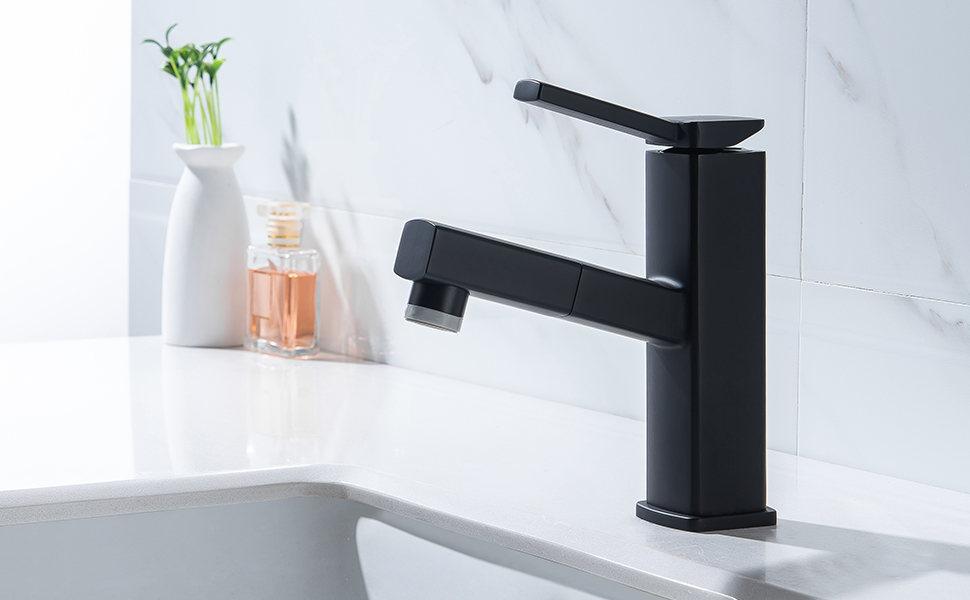 KAIYING Pull Down Bathroom Sink Faucet
