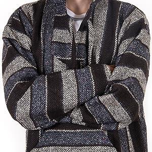 orizaba original baja hoodie drug rug classic weave pattern