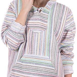 orizaba original baja hoodie drug rug zig zag weave pattern