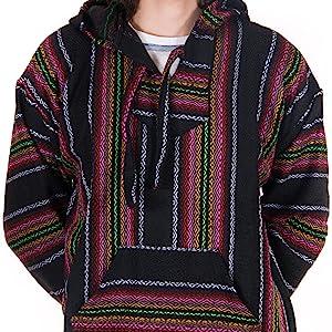orizaba original baja hoodie drug rug diamond weave pattern