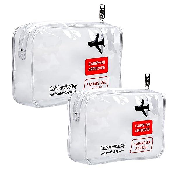 Amazon.com: TSA Aprobado Bolsa de aseo de viaje transparente ...