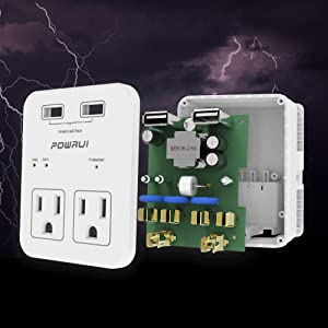 1080 Joules surge protection