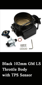 102mm Black Aluminum Billet GM LS Throttle Body with TPS Sensor