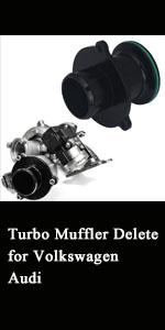 1.8t/ 2.0t Turob Muffler Delete For MOB Audi S3 A3 VW Golf GTI R MK7 Seat Leon Cupra TSI